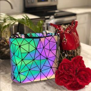 Geometric glow in the dark purse